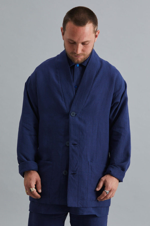 Ceramicist's Jacket - Navy Linen