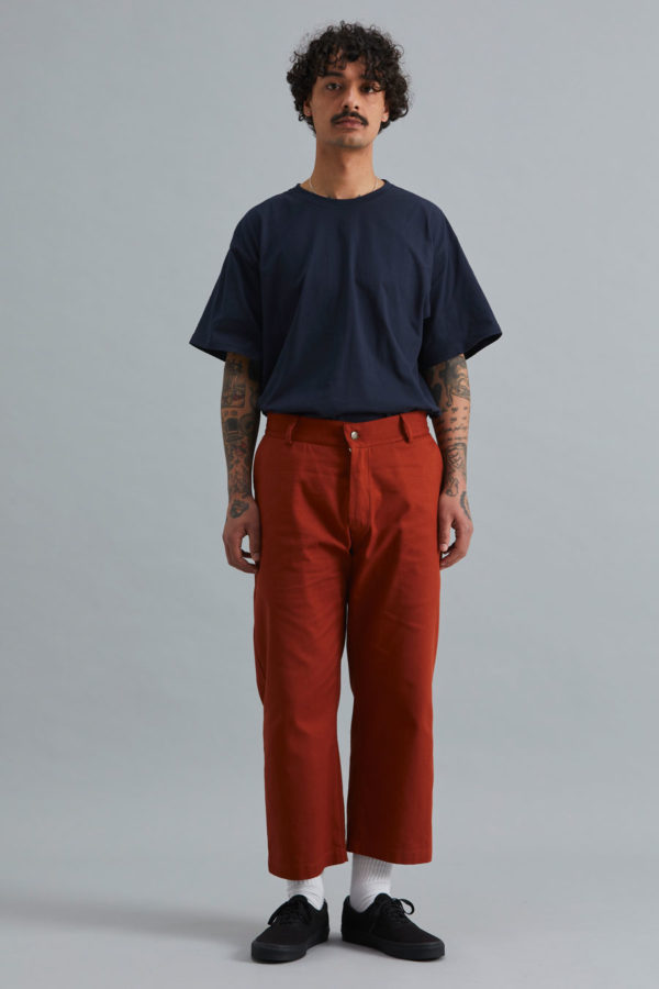 Cropped Trouser - Rust
