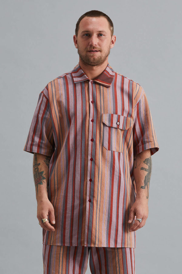 Short Sleeve Collar Shirt - SS21 - Orange River