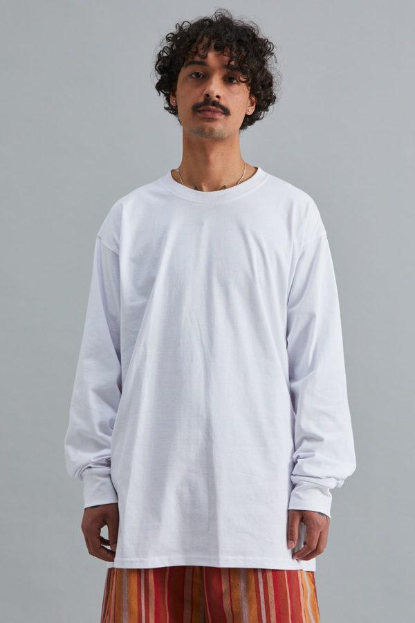 Long Sleeve Box T-Shirt - White