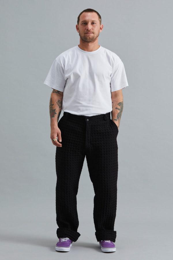 Full Length Trouser - Waffle Black