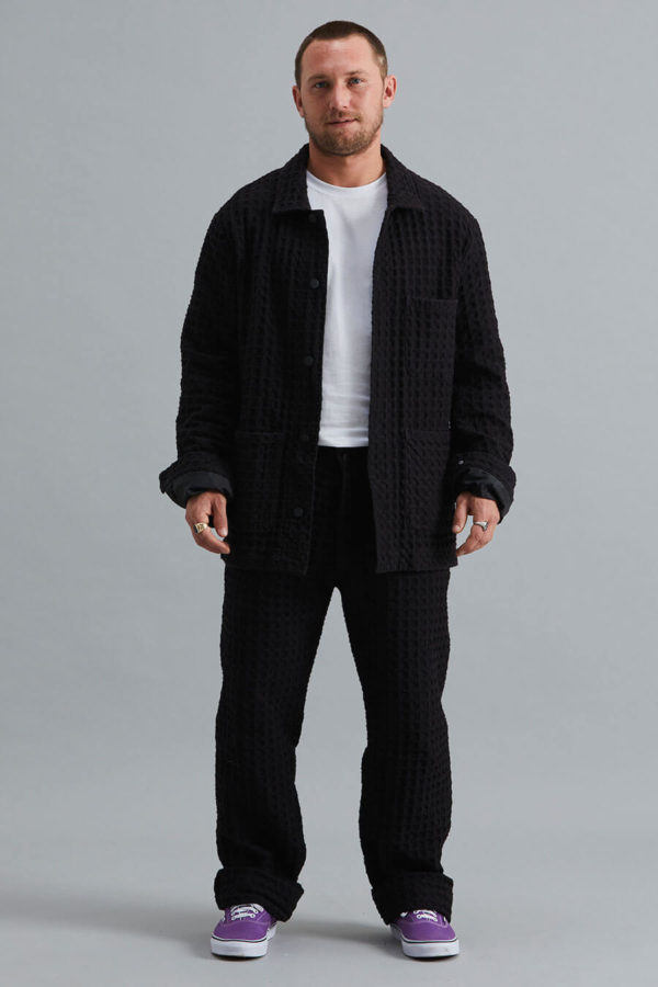 Work Wear Jacket - Waffle Black