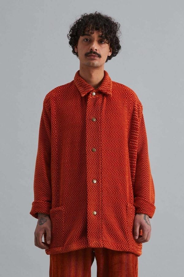 Dinner Jacket - Namib Orange Kuba Zag