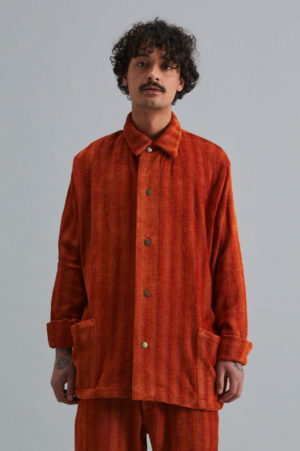 Dinner Jacket - Namib Orange Herringbone