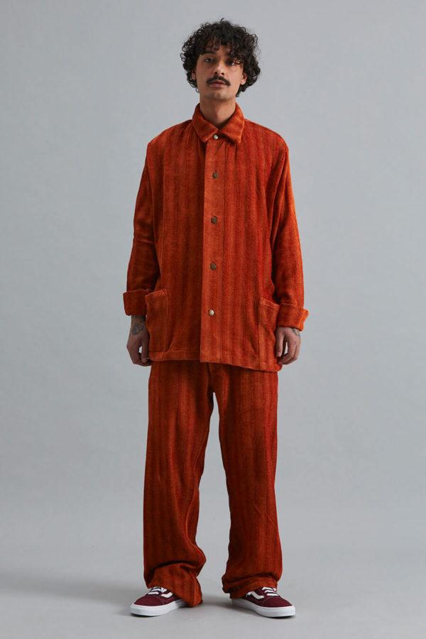 Full Length Trouser - Namib Orange Herringbone