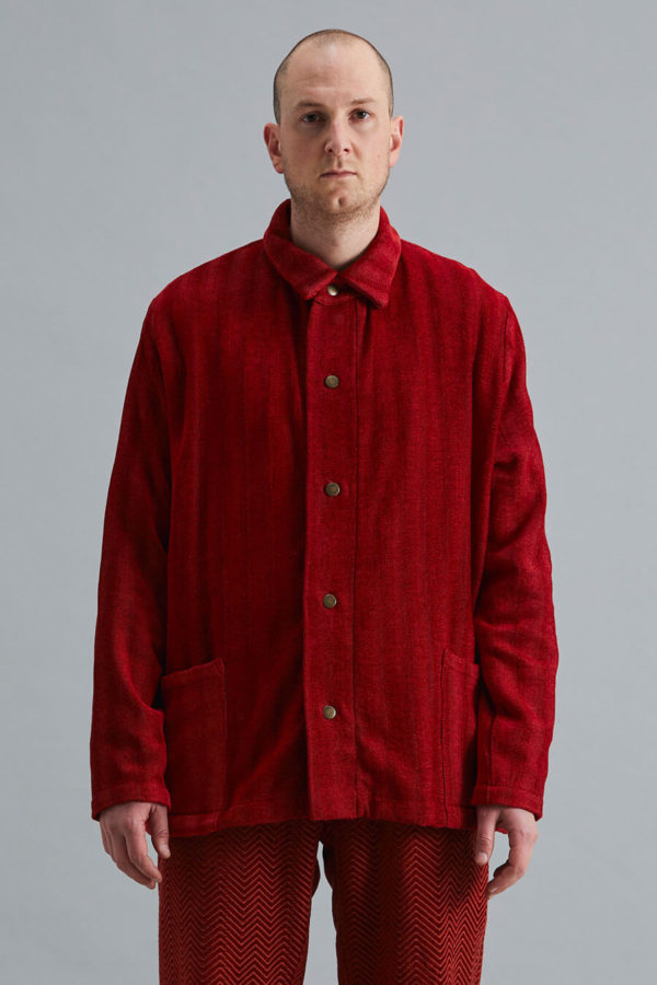 Dinner Jacket - Red Herringbone