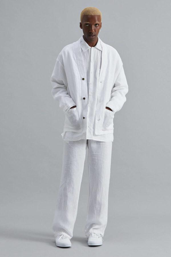 Ceramicist's Jacket - White Linen