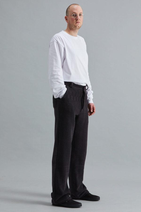 Full Length Trouser - Charcoal Kuba Zag