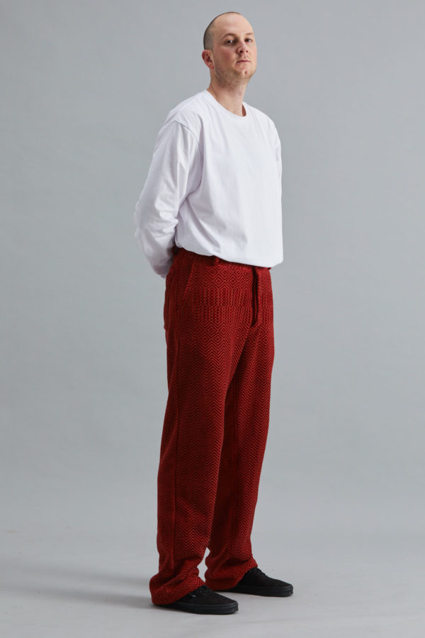 Full Length Trouser - Red Kuba Zag