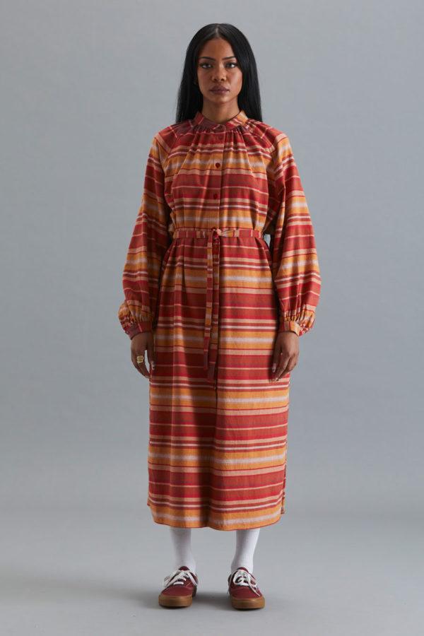 Nehru Collar Dress - SS21 - Sandstone