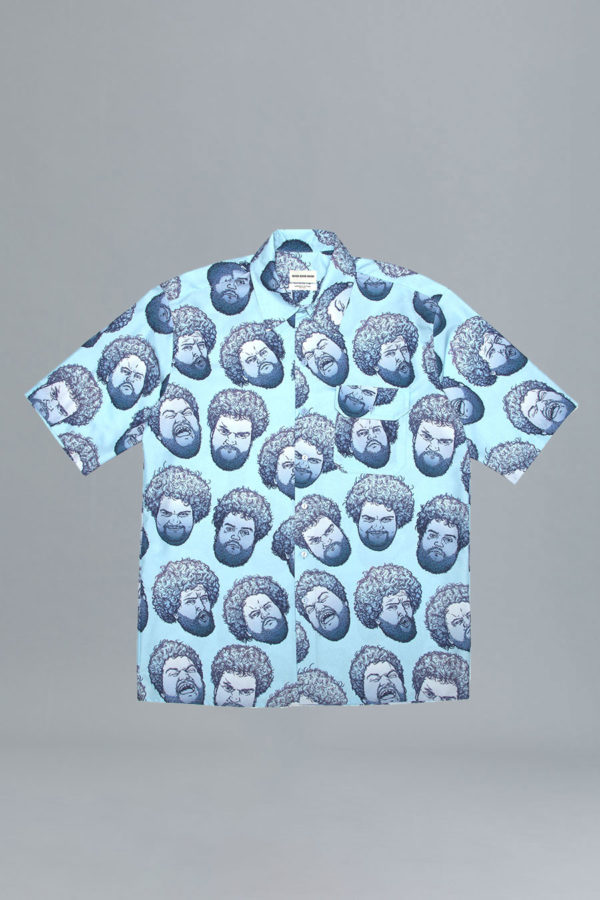 Short Sleeve Collar Shirt - April Fools' - Blue