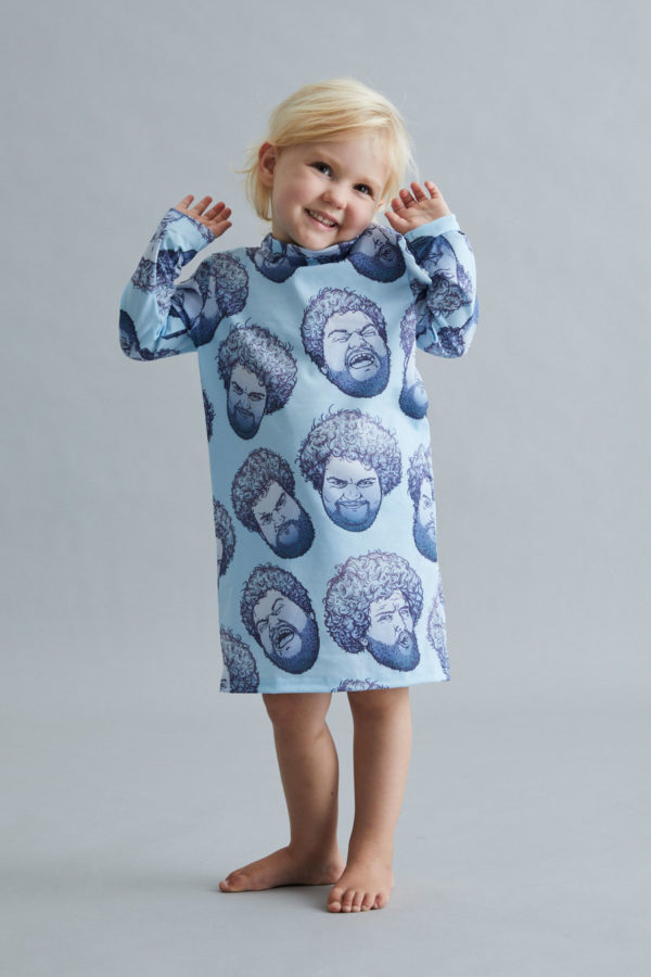 Kids T-Shirt Dress - April Fools' - Blue - SOLD OUT