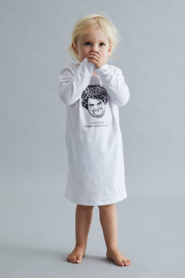 Kids T-Shirt Dress - April Fools' - White - IDGAF