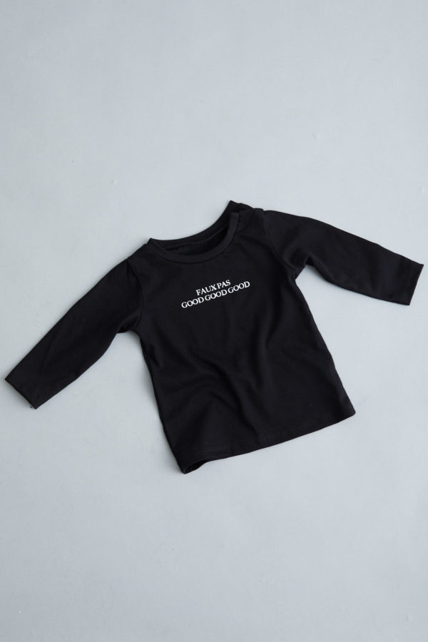 Babies Long Sleeve T-Shirt - April Fools' - Black