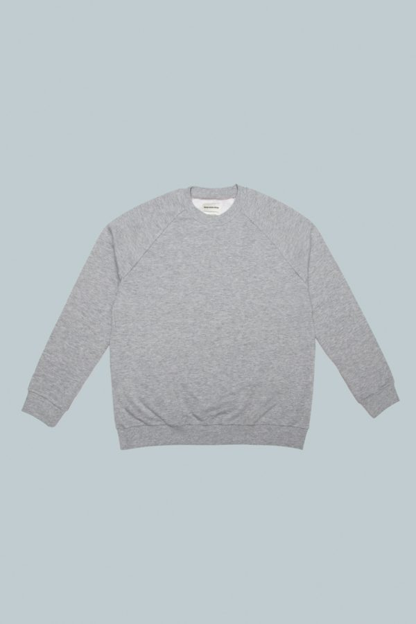 Crewneck Raglan Sweater - Grey